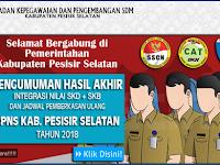 Pengumuman Hasil Akhir CPNS 2018 Kabupaten Pesisir Selatan