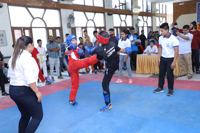300 players from Faridabad district level kickboxing contest, Dragan Marshal Arts Academy first
