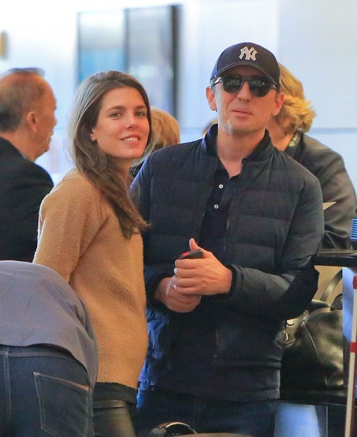 Charlotte Casiraghi and Gad Elmaleh in Santa Monica