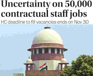 Uncertainty on 50,000 contractual staff jobs