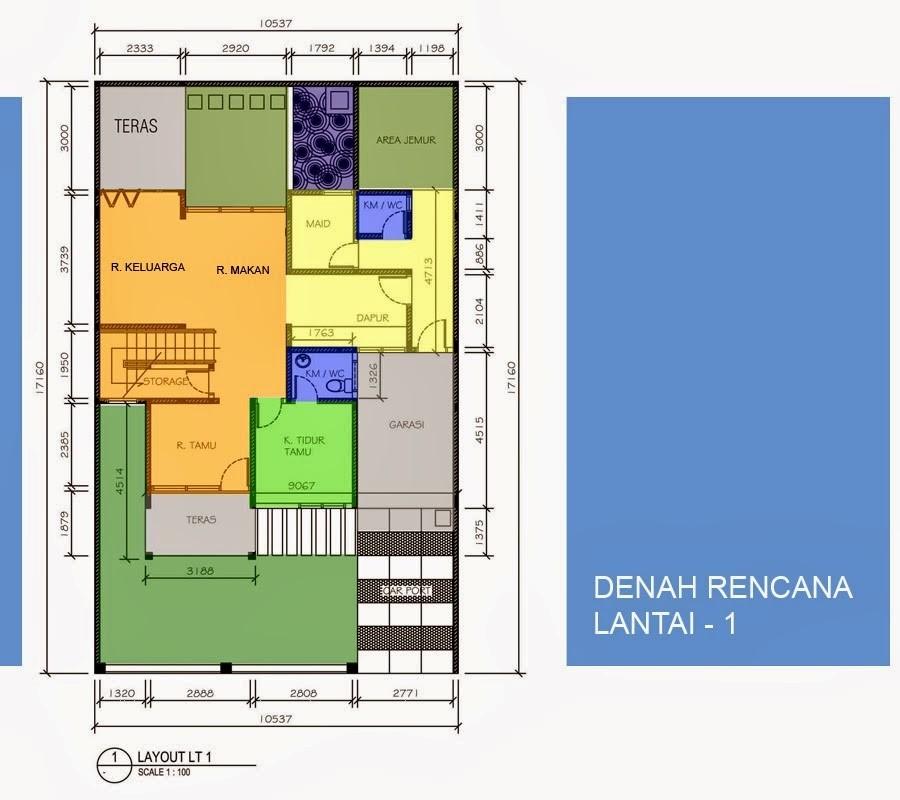 gambar denah rumah minimalis type 90 3