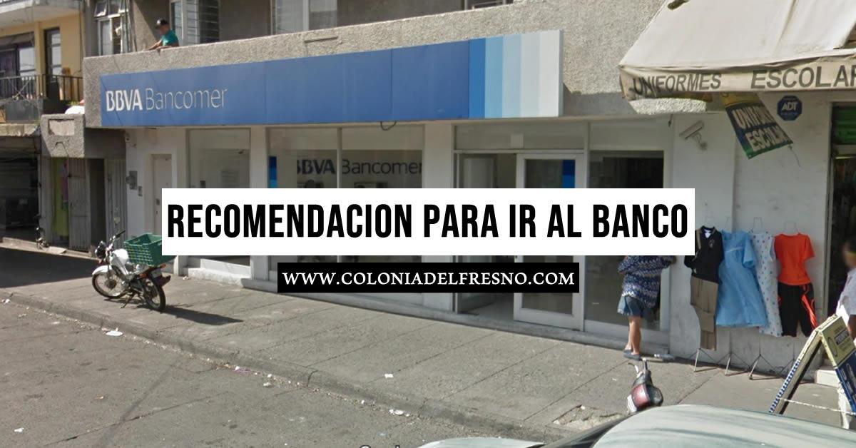 Recomendaciones para ir al banco