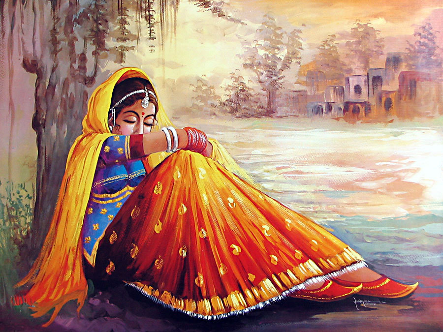 Beautiful Punjabi Girl Wallpaper Lonely Paintings I M So Lonely