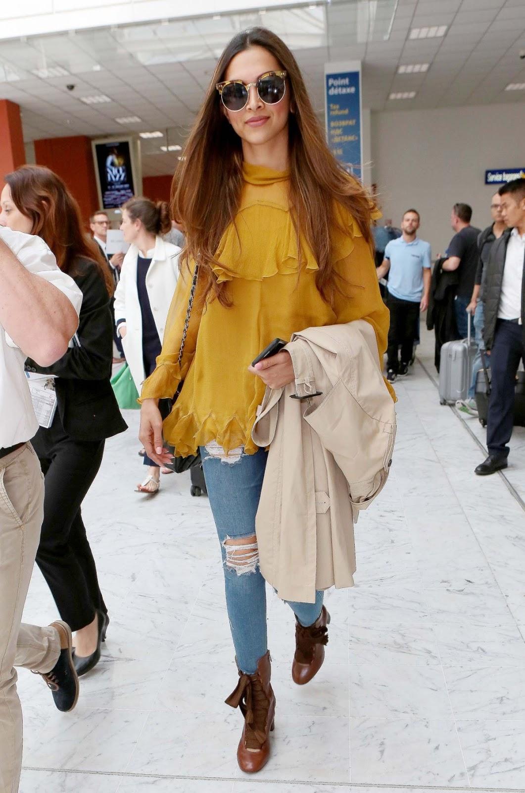 Deepika Padukone Airport Style 2017 ~ Krazy Fashion Rocks