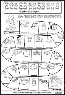 Trilha do alfabeto para séries iniciais