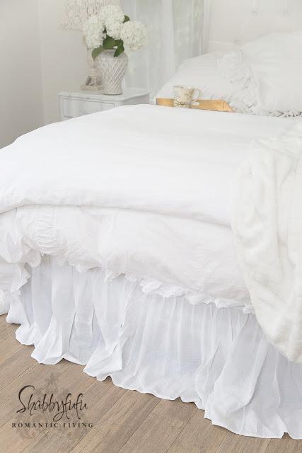 superior custom linens white linen bed skirt