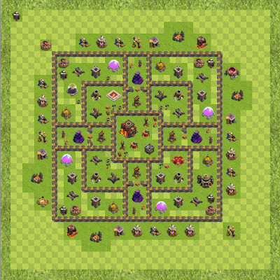 War Base Town Hall Level 10 By roguemanx (Bog-em Down TH 10 Layout)