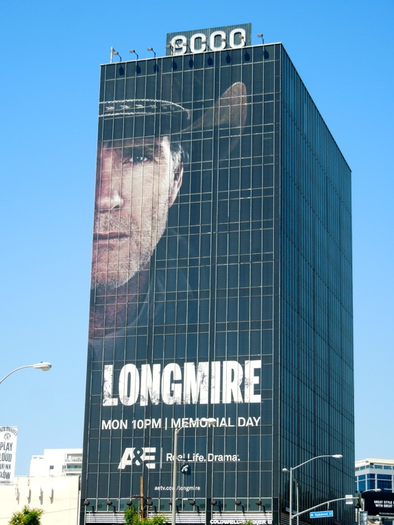 Giant Longmire season 2 billboard