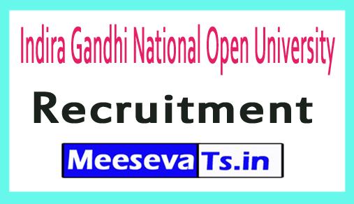 Indira Gandhi National Open University IGNOU Recruitment