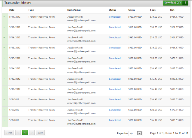 Payza account Payment Proof