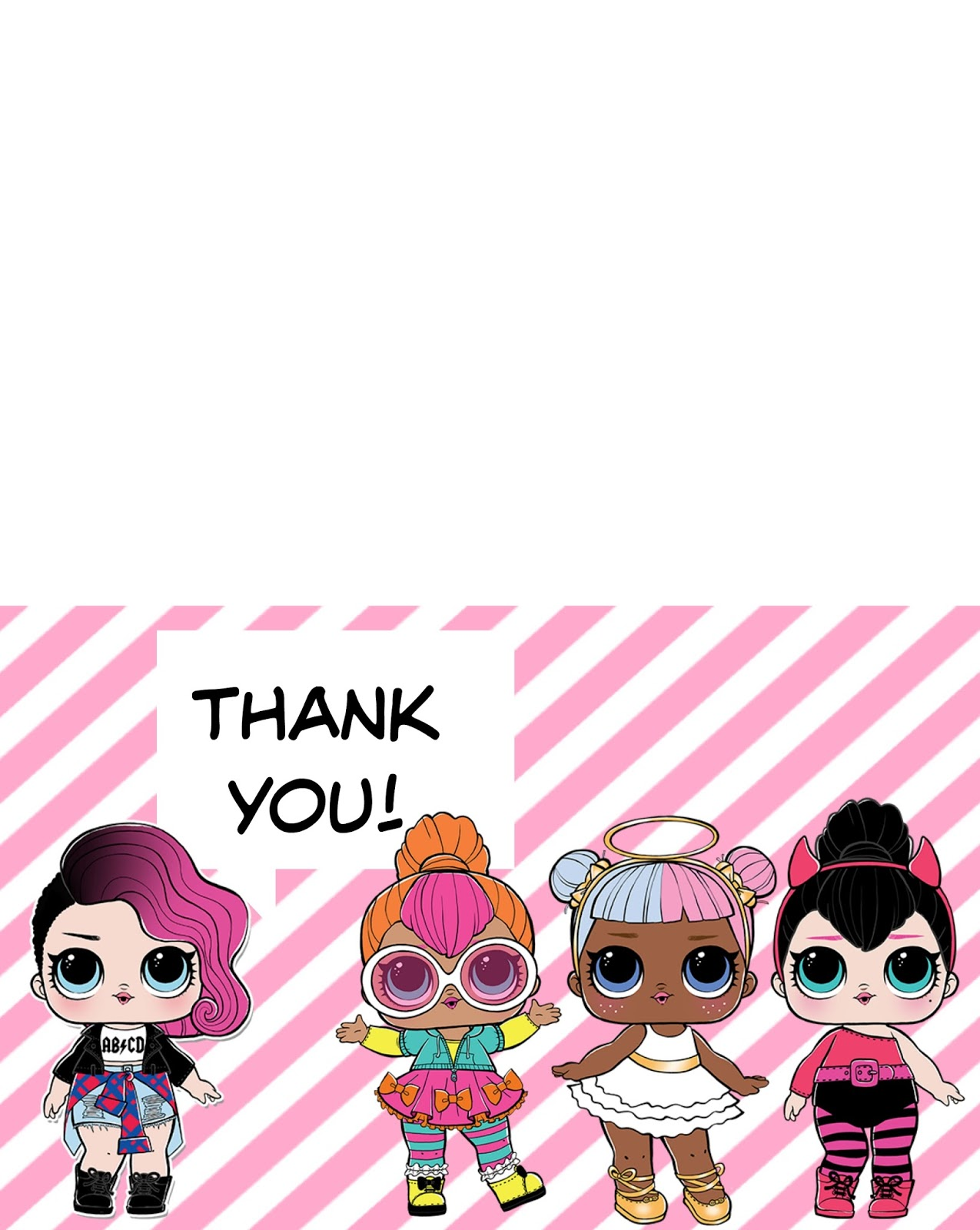 Musings of an Average Mom: L.O.L. Surprise Dolls Thank You Cards