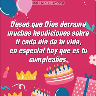 Imágenes feliz cumpleaños sobrina cristiana. Tarjetas con bendiciones de Dios para descargar y enviar por whatsapp