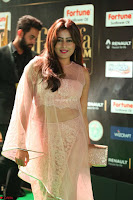 Nidhi Subbaiah Glamorous Pics in Transparent Peachy Gown at IIFA Utsavam Awards 2017  HD Exclusive Pics 51.JPG
