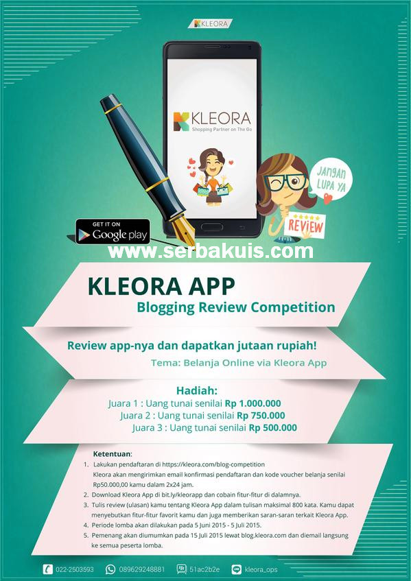 Kontes Blog Review Kleora App Berhadiah Total +2 Juta