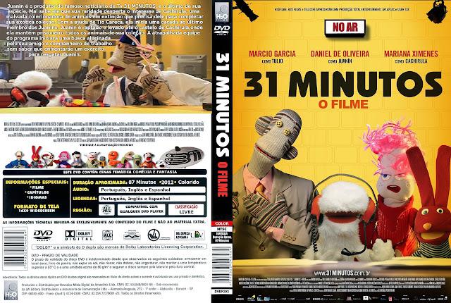 Capa DVD 31 MINUTOS O FILME