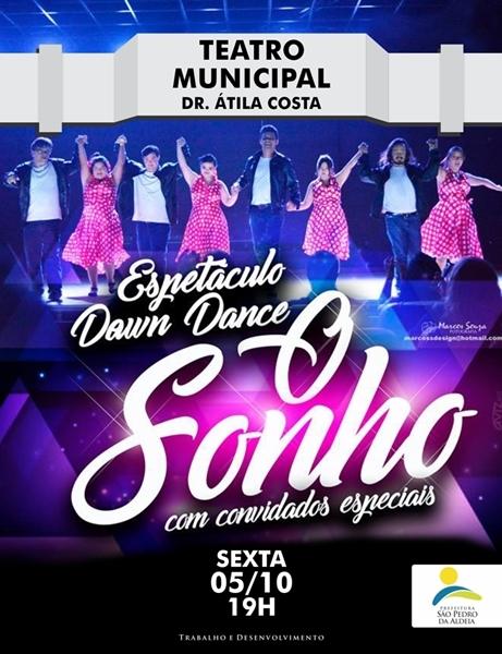 """São Pedro da Aldeia recebe o espetáculo """"Down Dance - O Sonho"""" com ingressos a partir de 15 reais nesta sexta-feira (05/10)"""