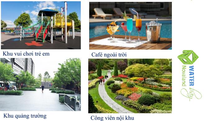 Công viên nội khu và tiện ích căn hộ Water bay