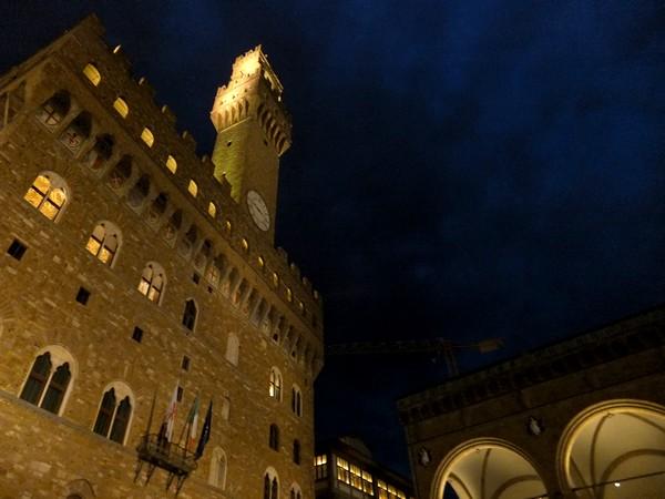 florence toscane palazzo vecchio nuit