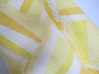 Yellow solid quilt, thea's puzzle