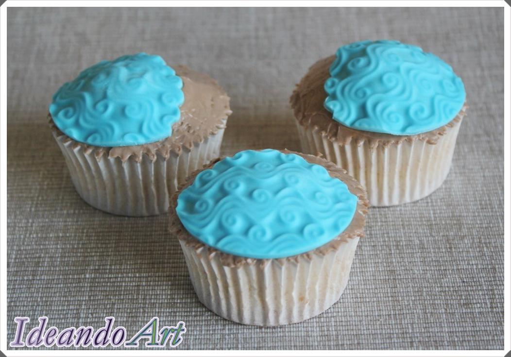 Cupcakes mar fondant