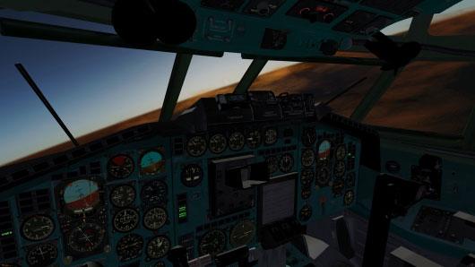 Kokpit Pesawat Terbang Concorde Di Game Simulator FlightGear 3.0