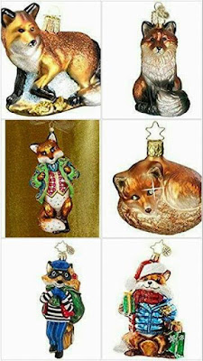 Foxy Christmas ornaments