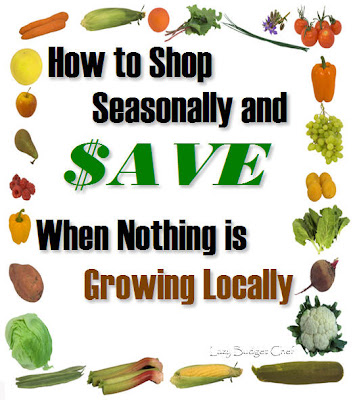 How to Shop Seasonally and Save Money when Nothing is Growing Locally