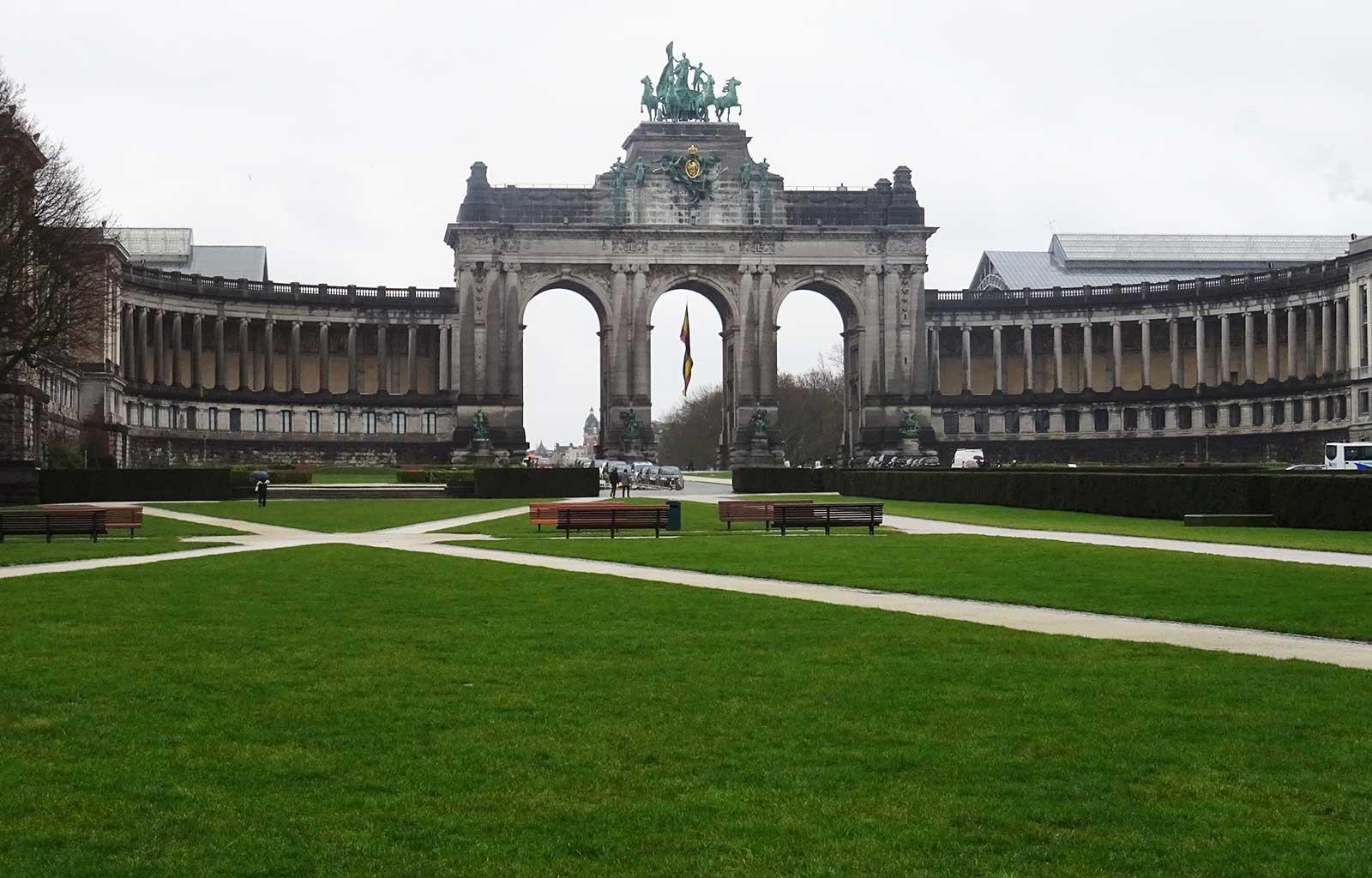 week-end à Bruxelles parc et arcade du cinquantenaire