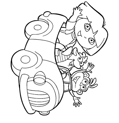 Dora Printable Coloring Pages For Kids