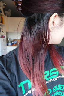 shwarzkopf brilliance luminance hair dye red passion before shot