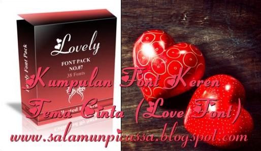 Kumpulan Font Keren tema Cinta (Love Font)