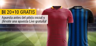 bwin promocion 10 euros Roma vs Inter 26 agosto