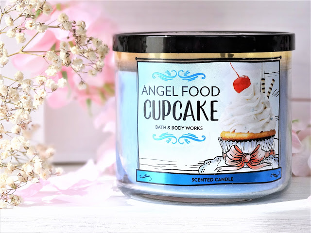 avis angel food cupcake bath and body works, bougie angel food cupcake, angel food cupcake bath and body works candle review