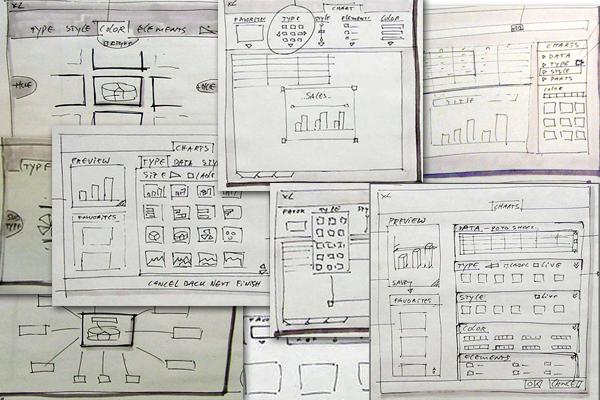 Excel paper prototype