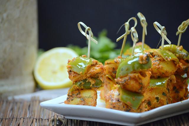 Tandoori Aloo Bites ~ Tandoori Potato Bites