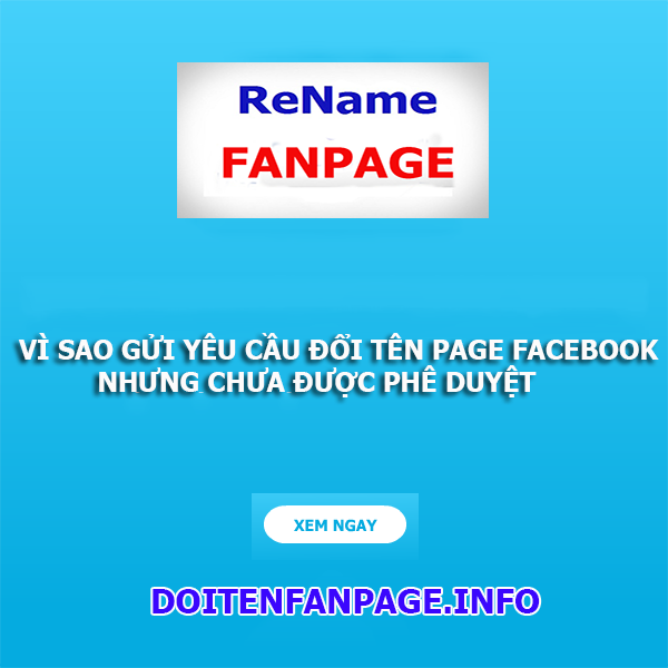 doi ten fanpage facebook an toan