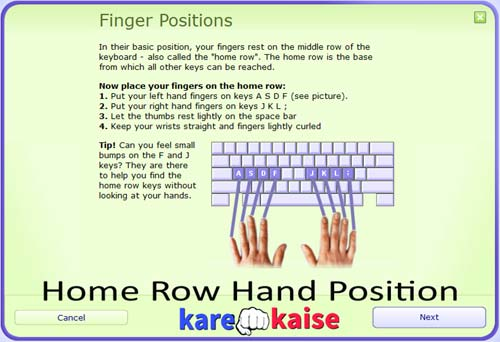 keyboard-typing-home-row-position-hand