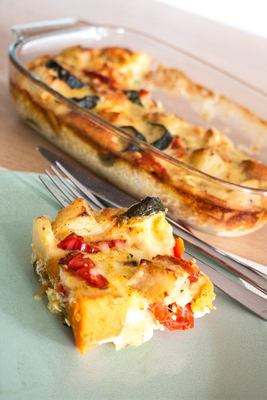 Svelte Salivations Crustless Roasted Vegetable Quiche