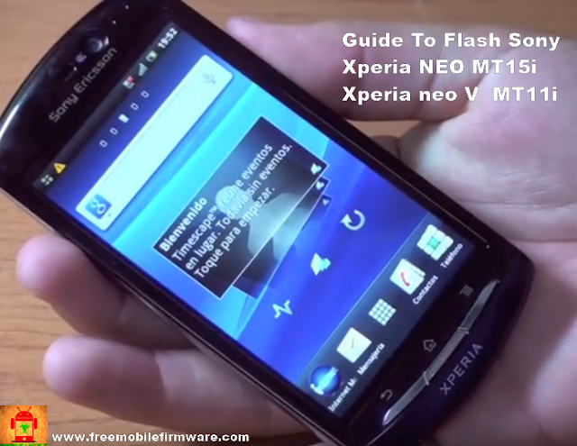 Flash Sony Xperia NEO MT15i Xperia neo V  MT11i Ice Cream Sandwich 4.0.4