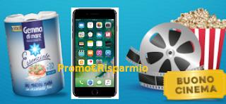 Logo Concorso ''Vinci con Essenziale'': gratis o con acquisto vinci cinema e Iphone 7