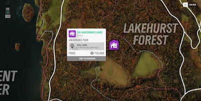 Forza Horizon 4, House Location Map, The Huntsman's Lodge