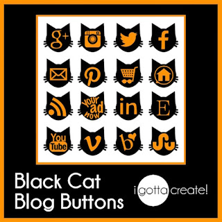 free Black Cat Social Media Buttons by I Gotta Create!
