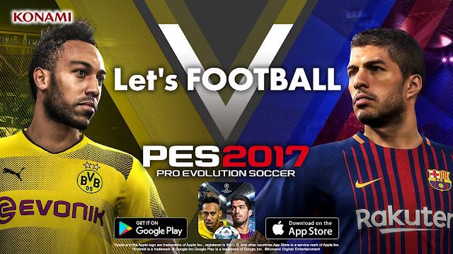 تحميل لعبة بيس pes 2017 للاندرويد برابط مباشر وسريع