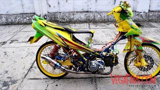 Foto Vega ZR Thailook Style Kuning Hijau