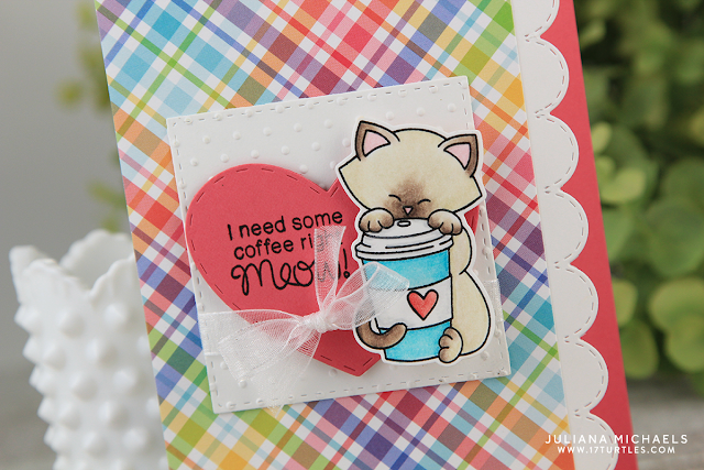 Coffee Right Meow Card by Juliana Michaels featuring Newton's Nook Designs Newton Loves Coffee
