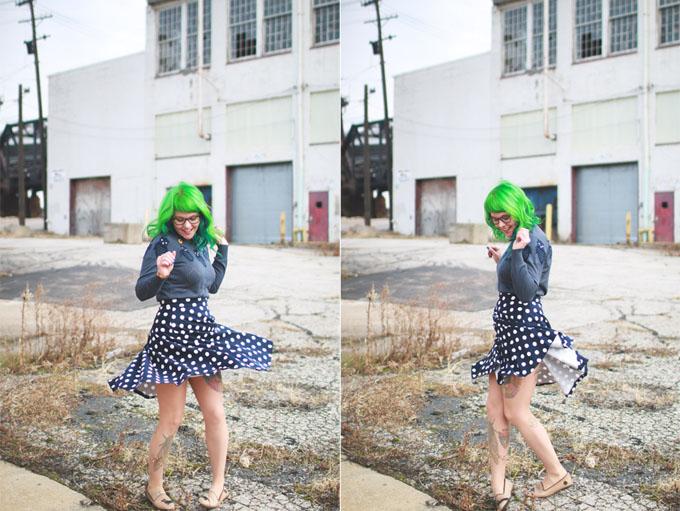 green hair, kaylah doolan, dainty squid