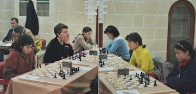 Encuentro España vs. China en la Olimpiada de Ajedrez de Malta 1980
