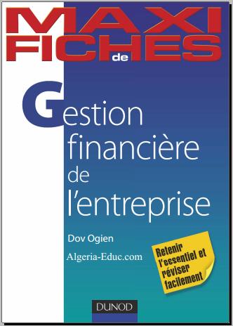 Livre : Maxi fiches - Gestion financière de l'entreprise, de Dov Ogien PDF