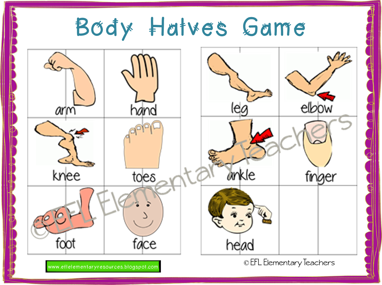 Efl Elementary Teachers Body Theme For Elementary Language Learners