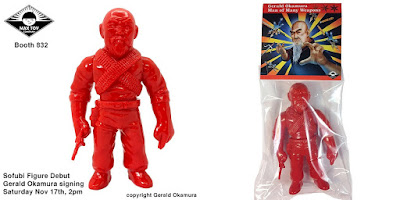 Designer Con 2018 Exclusive Master of Weapons Gerald Okamura Unpainted Red Edition Vinyl Figure by Max Toy Company
